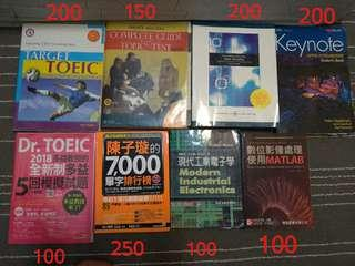 🚚 Target TOEIC, Complete guide to the Toeic test ,Basic marketing ,Keynote, 陳子璇的7000單字排行榜,現在工業電子學