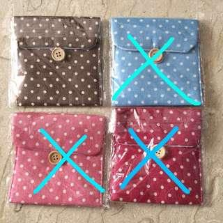 BNIP Brown Polka Dot Pouch