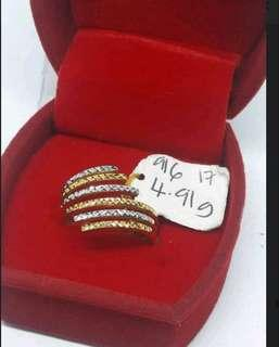 🚚 Ready No Waiting 916 Gold Adult Ring 2-tone
