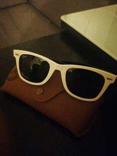 Ray-Ban white and black hand made in Italy