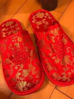 結婚雙喜拖鞋