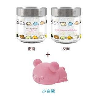 🚚 San-X Mochi家族 立體珪藻土防潮公仔玻璃罐組550ml-單售