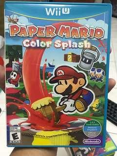 Wii U game Paper MARIO Color Splash