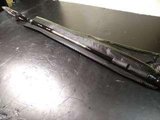 全套高級碳素釣魚竿 竿+輪+配件 磯釣竿4.5米 全新 雙定位 fishing rod全套 Bamer可調到3.5米_磯釣竿+14軸紡車輪 連配件所有如照片 魚竿釣魚