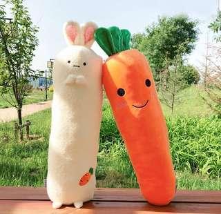 Soft Toy (Bolster) : Carrot / Rabbit