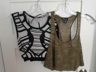 Crop tops pair size S - never worn