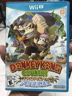 Wii U game Dongkey Kong Country Tropiccal Freeze