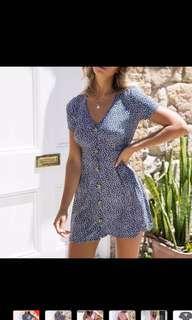 🚚 Casual blue floral dress