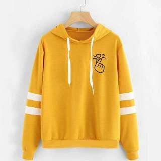 Jaket Sweater Hoodie Heart Korea