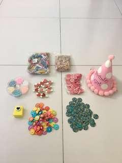 #SparkJoyChallenge Bundle Arts Crafts Pegs Buttons Beads Puncher