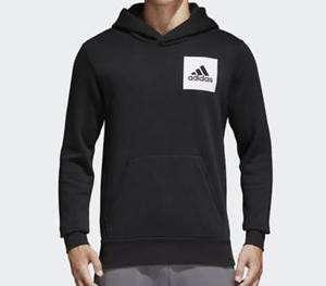 全新Adidas ESSENTIALS LOGO HOODIE Size M 有帽衛衣 sweater black 黑色