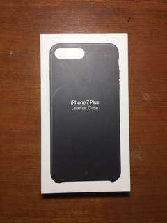 Original Leather Case Iphone 7 Plus Black mulus murah