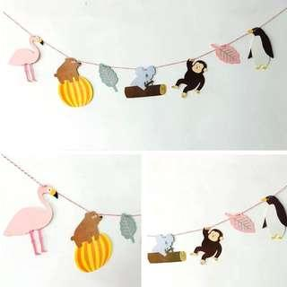 🚚 Cute Party Banner (In the zoo garland)