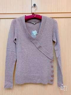 🚚 芋頭紫薄毛料上衣