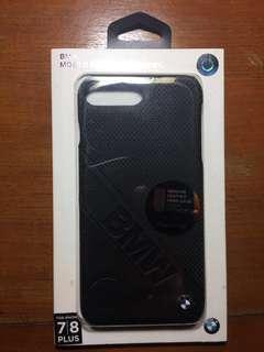 Original case BMW iphone 7 plus BLACK LEATHER BMW MEWAH