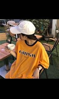 🚚 Orange Graphic ring shirt