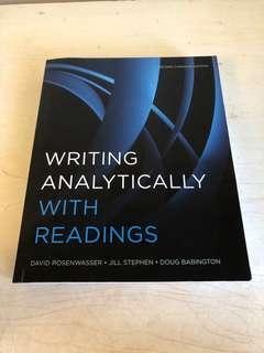 Writing analytically with readings- david rosenwasser- jill stephen- doug babington- second canadian edition