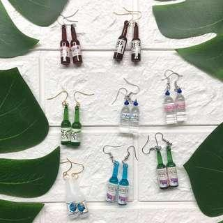 🚚 ❣️*new* cute multi mini bottle drink 🍸 earrings