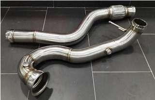 A45 catless downpipe 3 inch with link pipe