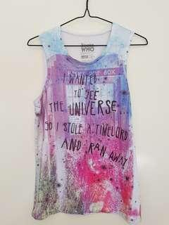 Doctor Who Tank Top - Size S