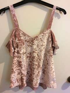 Pink Velvet top