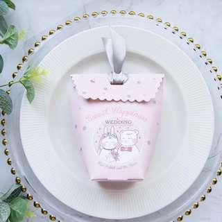 🚚 Printed Design Candy Paper Gift Box - Pink