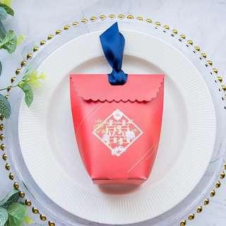 🚚 Printed Design Candy Paper Gift Box - Red