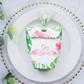 🚚 Printed Design Candy Paper Gift Box - Flamingo
