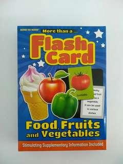 fash card food fruit and vege