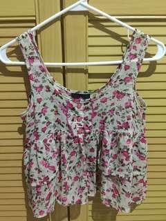 Summer Flower Crop Top