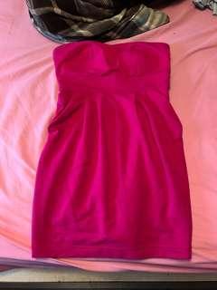 NYE Magenta Pink Sweetheart Dress