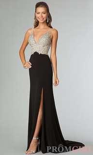 Prom Dress - black and embellished