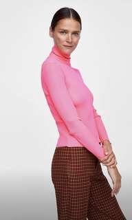 ZARA Neon Pink Knit M
