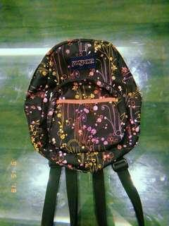 (REPRICED) Jansport Floral Mini Backpack - Half pint