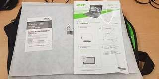 Acer company  Aspire E15  E5-571-540R MODEL  INTEL CORE i5-5200u  4GB DDR3 L MEMORY (500 GB HDD )
