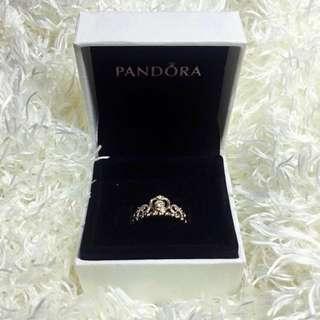 Auth Pandora Princess Tiara Ring Rose Gold