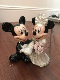 MICKEY MOUSE MINNIE MOUSE WEDDING CERAMIC