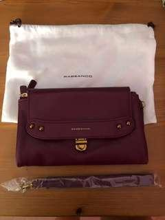Rabeanco Wallet with Chain and Wristlet Options (Purple)