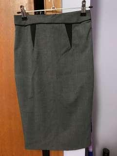 Portmans Grey Work Skirt