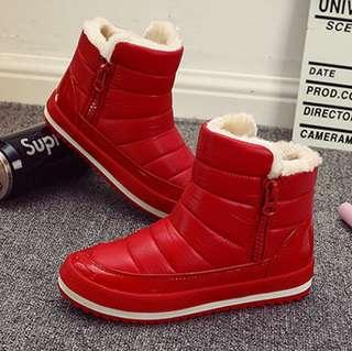 Winter Boots in Red