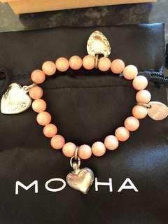 Mocha Beaded Charm Bracelet