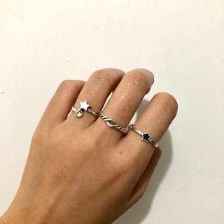 Meteor Ring Set