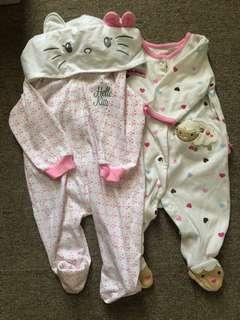 SALE! Carter's Sleepsuits 0-6 months