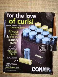Conair Compact Rollers in Soft Compact Travel Case