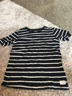 Black and white long lost shirt