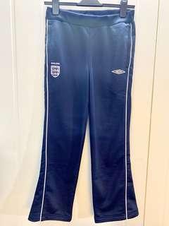 "Umbro Women Team England Navy Sports Pants (Size 38/L) waist 28"" 女裝英國隊深藍色運動褲"