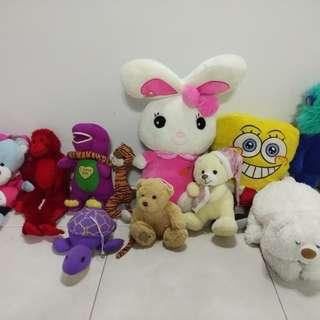 Soft Toys - 10toys in One price