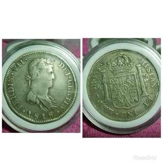 Ferdin VII Silver old coin