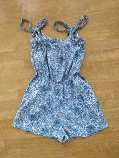Cute Bow Strap Playsuit