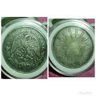 Mexican coins 1902 old coins